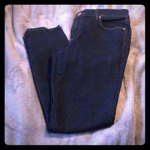 LOFT Modern Skinny Dark Wash Jean Size 30/10